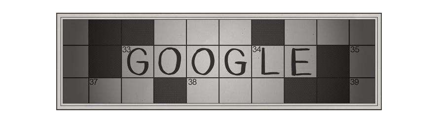 Doodle 100º aniversário das palavras cruzadas